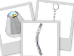 body jewelry replacement parts for your belly button rings