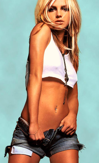 Britney Spears Belly Button Piercing