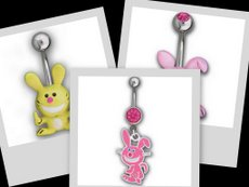 Happy Bunny belly rings