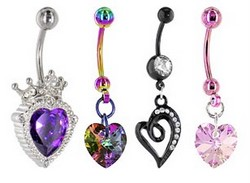 Valentine Navel Rings