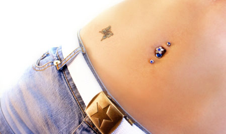 Double Navel Piercing